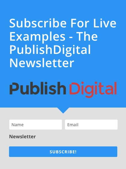 Premium Examples Newsletter - Subscribe Now